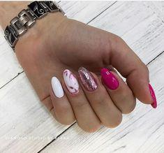 Attention to the semi-permanent varnish - My Nails Hot Nails, Hair And Nails, Nails 2018, Funky Nails, Manicure E Pedicure, Cute Acrylic Nails, Creative Nails, Beauty Nails, Pretty Nails