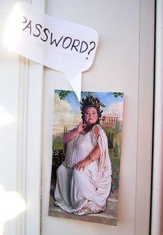 The Fat Lady Password Bedroom Door Decor