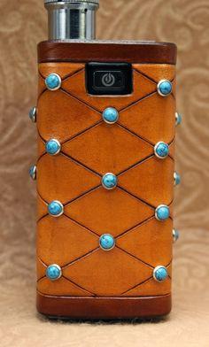 Smexy Vapes: Western Style Turquoise Studded MVP Leather Vaping...