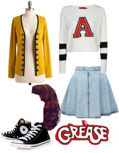"""""""Grease"""" by smalltown-dramagirl ❤ liked on Polyvore"""
