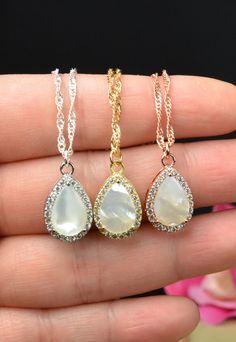 Mother of the pearl Bridesmaid giftsWedding by thefabbridaljewelry