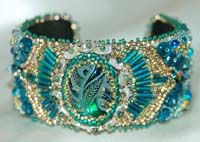 beaded embroidery cuffs bracelets | Beaded Cuff Bracelets - Artwork by Beader and Enamelist Karen L. Cohen