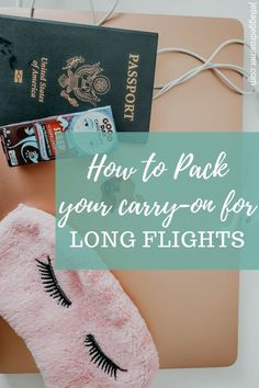 Long flights are exhausting and pretty much dreaded before you get to explore your destination. In this post I have listed all the items to pack in your carry-on to make your long flight a breeze. Check out this post to become a pro at this travel thing! #womentravel #whattopack #carryonluggage  #traveltips #travelbeautyhacks