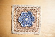 Loopsan: One Block A Week CAL: Week 12 Kaleidoscope Blossom' by Chris Simon with pattern link.