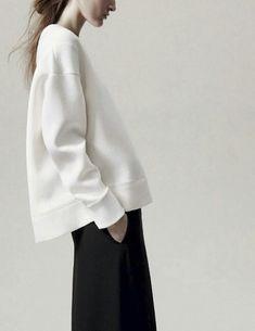 Minimalist sweatshirt & wide leg trousers, chic style inspiration // Neil Barrett S/S 2013
