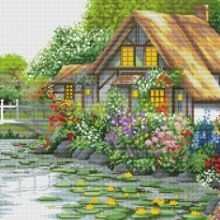 Gallery.ru / Все альбомы пользователя denise10 Cross Stitch Flowers, Cross Stitch Patterns, Cross Stitch Landscape, House Styles, Home Decor, Free, Xmas, Cross Stitch, Scenery