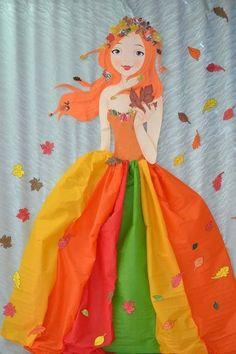 pani jesień na Stylowi.pl Fish Crafts, Flower Crafts, Diy And Crafts, Crafts For Kids, Arts And Crafts, Paper Crafts, Autumn Crafts, Autumn Art, Kindergarten Crafts