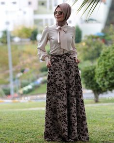 Cloche Floral Skirt - Brown - Zehrace