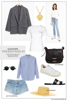 Casual and basic summer vibes with a touch of effortless California chic classics. #sustainable #fashion #slowfashion #capsulewardrobe #minimalism #minimal #scandi #chic #style