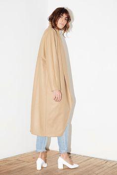 Camel Cashmere Wool Escape Coat