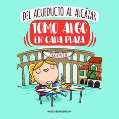 Del acueducto al Alcázar tomo algo en cada plaza! #frases #divertidas #humor #graciosas #funny #segovia #ciudad Funny, Comic Books, Humor, Comics, Plaza, Spanish, Stickers, Truths, Maps
