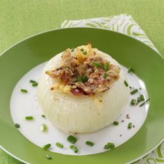 Bacon-Gouda Stuffed Onions - Fantastic!  I served these with a steak and they were wonderful.  I've also made them using gorgonzola instead of gouda.