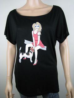 女性のトップスの私達のアリスブランドの非常に異なる画像の一部のクローズアップ。 www.etsy.com/shop/AliceBrands。 www.alicebrands.co.uk。 #alicebrands。 #fbloggersの#bbloggersを#dogs