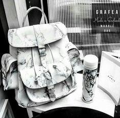 Tried this Pin? Cute Mini Backpacks, Stylish Backpacks, Grafea Backpack, Backpack Bags, Backpack Store, Marble Bag, Cute School Bags, Sacs Louis Vuiton, Girls Bags