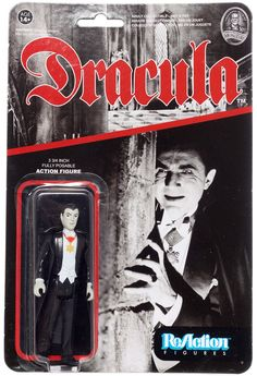 REACTION: UNIVERSAL MONSTERS ACTION FIGURE - DRACULA Badass retro toy line.