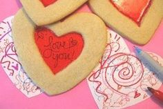 Valentine's Day secret message cookies by Gourmet Mom On-the-Go -- Genius!