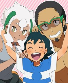 I think it's adorable how Ash sees Kukui and Burnet as the family he never had. Also they got married in the most recent episode of Sun and Moon (ep 55)