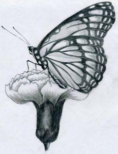 karakalem kelebek