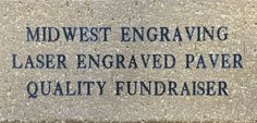 Laser Engraved Bricks for Fundraising available at Midwest Engraving!