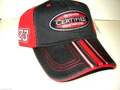 Johnny Benson #23 Toyota Racing Red/Black new ball cap w/tags: Johnny Benson #23 Toyota Racing, new red and black ball cap with tags.  It has Toyota Certified Used Vehicles on the front Johnny's signature on the side with #23 and the read TUNDRA on the velchro strap in the rear.  Just 3 left....