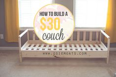 How to build a $30 couch. www.osiemoats.com