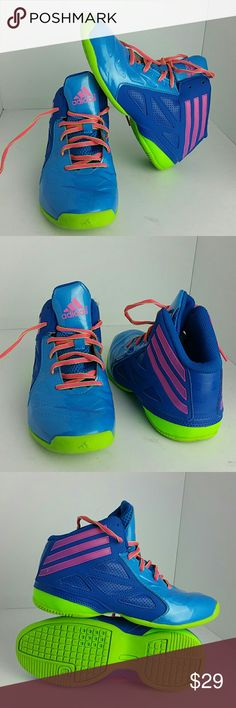 ADIDAS GIRLS SHOES VERY CLEAN INSIDE-OUT   GIRLS SIZE 3 BIG KIDS   SKE # BJ ADIDAS Shoes Sneakers