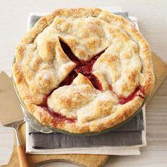 Deep-Dish Strawberry-Rhubarb Pie // More Fantastic Rhubarb Recipes: http://www.foodandwine.com/slideshows/rhubarb #foodandwine #fwpinandwin