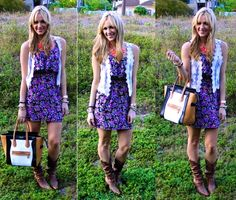 Cowboy boots and dress