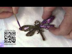 ▶ How to create faux enamel jewelry - with nail polish and wire!  Sweet Antiq's by Linda Peterson - YouTube