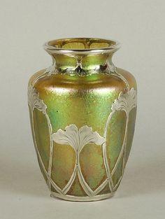 ❤ - Loetz | Silver Overlay Vase - 1900.