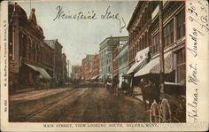 Main Street, Looking South Helena, MT Postcard