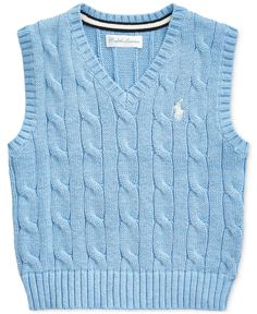 This layering piece gets a Polo Ralph Lauren upgrade with soft combed cotton and a signature embroidered Pony. Sweater Vest Outfit, Vest Outfits, Fashion Outfits, Sweater Vests, Knit Vest, Pullover Sweaters, Pretty Outfits, Cute Outfits, Aesthetic Clothes