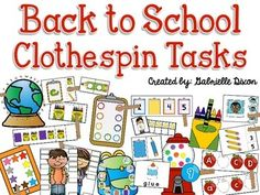 Use this pack to create fun, hands on work tasks for your students that allow them to practice basic skills as well as fine motor skills at the same time. My students love completing these activities during our table time and independent work times (workboxes).Here are the 23 activities included:-Back to School Spelling Words (lowercase letter matching)-Gumball Count (counting and identifying 1-10 to show how many)-Matching Pencils & Clipboards (color matching)-Star Chart Ten Frames (coun...