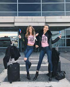 Josephine Skriver and Adriana Lima in Paris. #VSParis16 #VSFS_2016