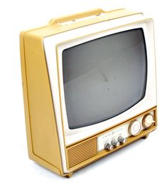 Early Portable Television  Description:  1960's Groovy Colored Unit made by: General Electric