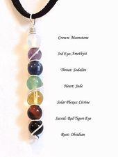 Collar de piedras preciosas de curación de Chakra Yoga Joyas Cristal de curación Alambre