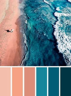 Find color inspiration ideas for your home. Peach and teal color palette , ocean inspired bedroom color Find color inspiration ideas for your home. Peach and teal color palette , ocean inspired bedroom color Blue Colour Palette, Teal Colors, Paint Colors, Beach Color Palettes, Summer Colors, Teal Blue, Color Blue, Indigo Blue, Palette Pastel