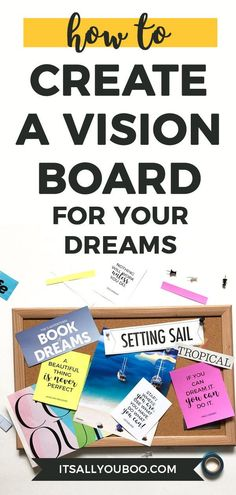 Vision board is a powerful tool that helps you to reach your goals and activate the law of attraction. Find out how to make a vision board that works. Cold Home Remedies, Natural Home Remedies, Sleep Remedies, Holistic Remedies, Creating A Vision Board, Goal Planning, Financial Planning, Dream Book, Self Improvement Tips