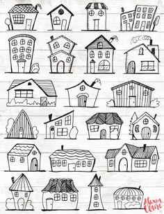 Doodle Haus Clipart Haus Vektor Kunst Haus Haus Stadt Stadt Haus PNG Dwelling Vector Obtain Haus Illustrationen 101 Hand Illustration, Vintage Illustration, Character Illustration, Animal Illustrations, Vector Illustrations, Doodle Drawings, Easy Drawings, Haus Vektor, House Quilts