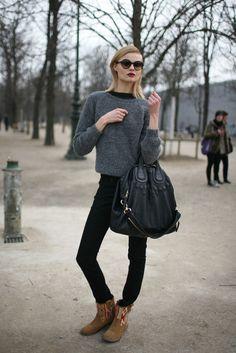 Cute. What They Were Wearing - Paris Fashion Week 2012   Photo by Kuba Dabrowski (WWD.com)
