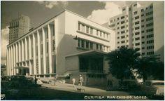 Biblioteca Pública (Anos 50) - Curitiba - Paraná - Brasil