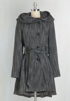 New Arrivals - Once Upon a Thyme Coat in Salt and Pepper
