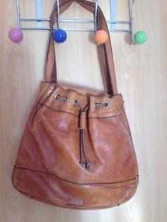 Vintage-Tasche-Handtasche-Braun