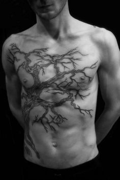 I love the styling of the tattoo  chest tattoo #ink #tat