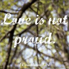 1 Corinthians 13:4-8 New King James Version (NKJV) 4 Love suffers long and is kind; love does not envy; love does not parade itself, is not puffed up; 5 does not behave rudely, does not seek its own, is not provoked, thinks no evil; 6 does not rejoice in iniquity, but rejoices in the truth; 7 bears all things, believes all things, hopes all things, endures all things.