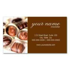 Chocolate business card pinterest business cards chocolate and chocolates business cards colourmoves