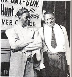 Elmore James, and his side man Boy Williamson II   I really feel that BB King not only loved James slide guitar playing too, but he maybe felt a kinship to the way James was raised as a child.