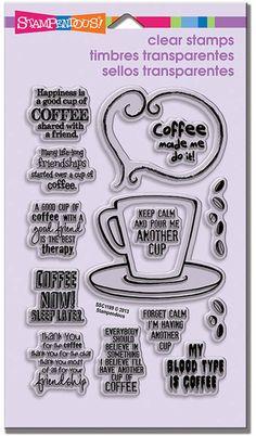 Coffee - Rubber Stamps - 123Stitch.com