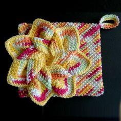 Crocheted Flower Hot Pads - Free Pattern