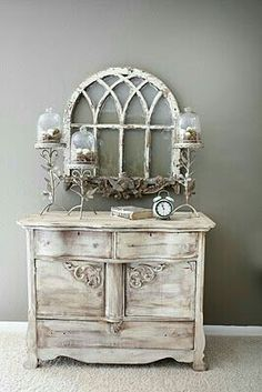 It may sound odd but shabby chic furniture is highly in demand these days. You must be thinking that how can something chic and elegant be shabby. However, that seems to be the current trend and most people are opting to go for furniture of that kind. Shabby Chic Kitchen, Vintage Shabby Chic, Shabby Chic Homes, Shabby Chic Decor, Vintage Decor, Distressed Furniture, Shabby Chic Furniture, Painted Furniture, Rustic Furniture